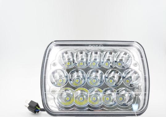 CZG-5745D with DOT mark 5X7 LED head light 7 headlight 5x7 inch 45w led headlamp high/low beam for jeep wrangler 4x4 Trucks czg 5755 55w led high power 5x7 led headlight with hi low beam angel eye for jeep trucks offroad 7 led work head lamps e9 mark