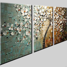 Lucky Tree Modern Abstract Oil Painting home decor wall art picture flowers on palette thick knife oil painting 168015(China)