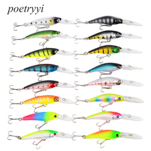 Minnow POETRYYI 16pcs/lot Fly Fishing Lure Set China Hard Bait Jia Lure Wobbler Carp 2 Models Fishing Tackle wholesale 30 2016 minnow hengjia 43pcs lot fly fishing lure set china hard bait jia lure wobbler carp 6 models fishing tackle wholesale