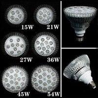 20 unids E27 15 w-54 W acuario llevó los accesorios de Iluminación LED acuario luces individuales 3 W par38 reef acuario bombillas led párr cultivo
