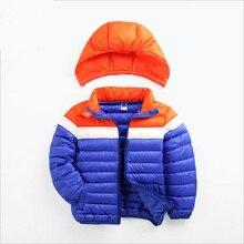 2015 Мода Девушки Зима пуховики Пальто теплый девочка 95% толщиной утка Вниз Дети куртку Детей Outerwears для холодной зима