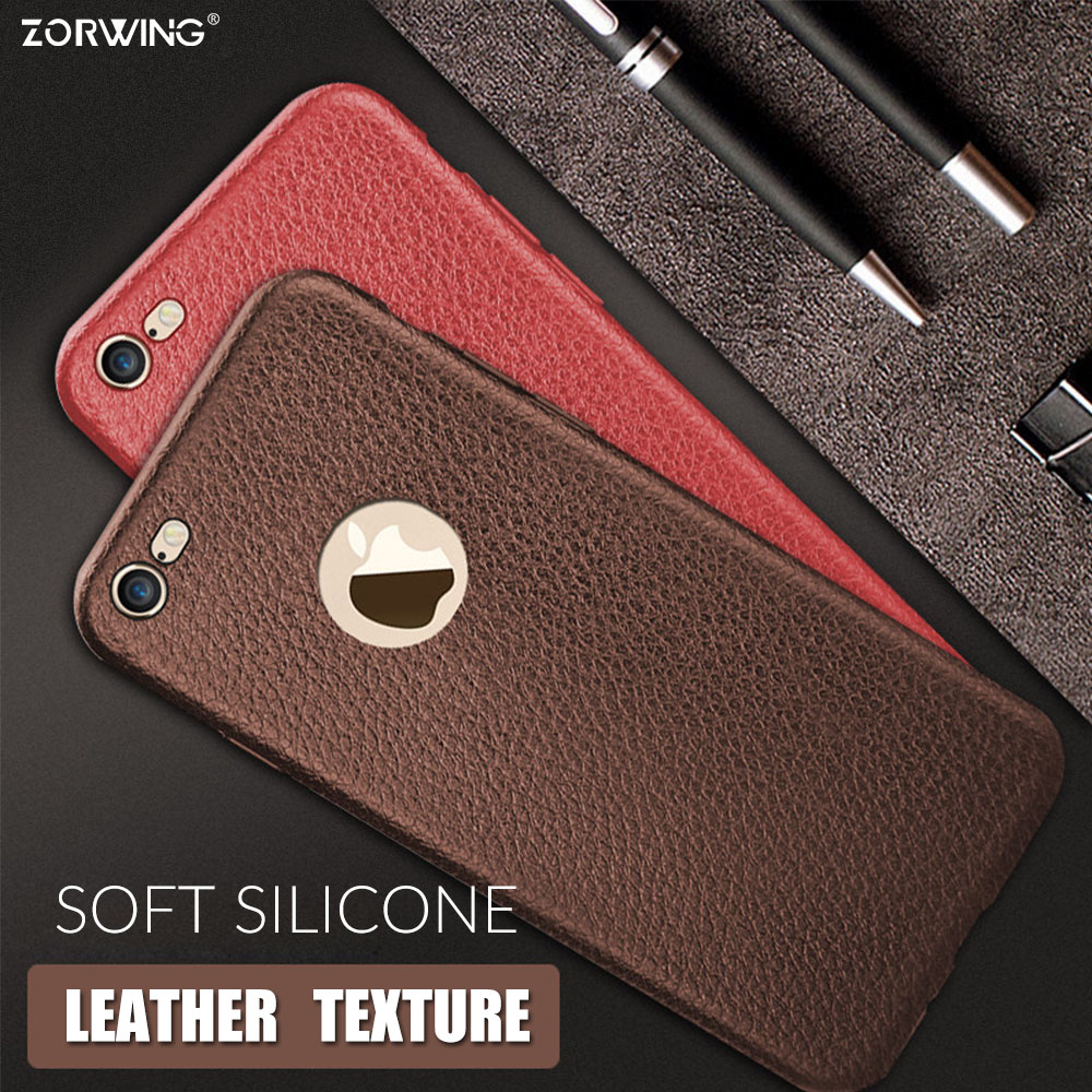Πολυτελής θήκη σιλικόνης για iPhone 6 S 6S Plus Soft TPU Leather Texture 360 ​​Full Phone Case για iPhone 7 Plus 7Plus Cover Cuque