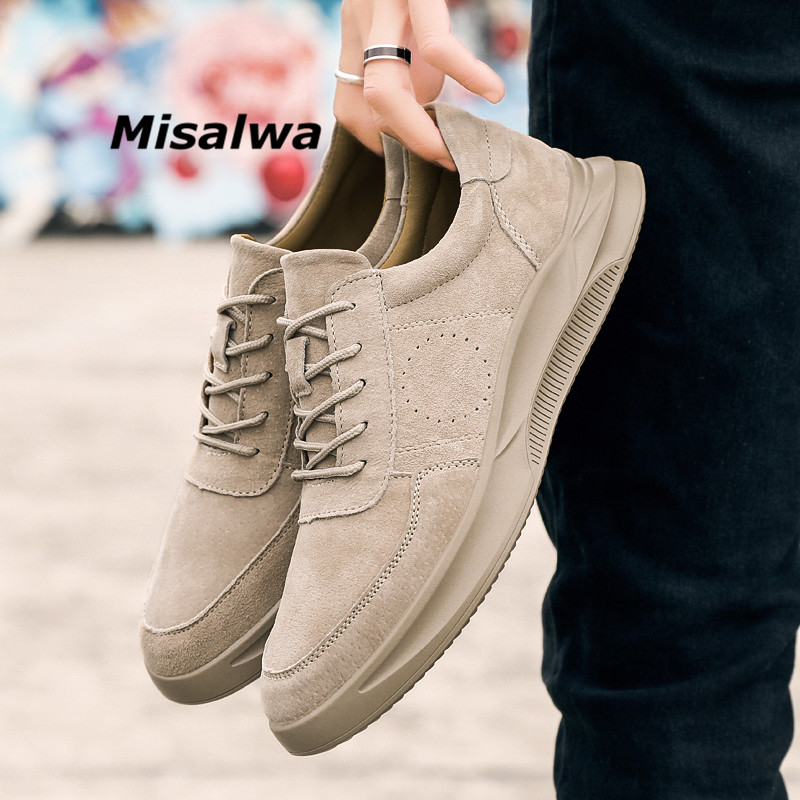 Casuais Genuínos Tênis sand De Jovens Sapatos Novos Camurça Ao Livre Homens Zapatos Respirável Ar 2019 Couro Misalwa Gray TqZwE6cYBB