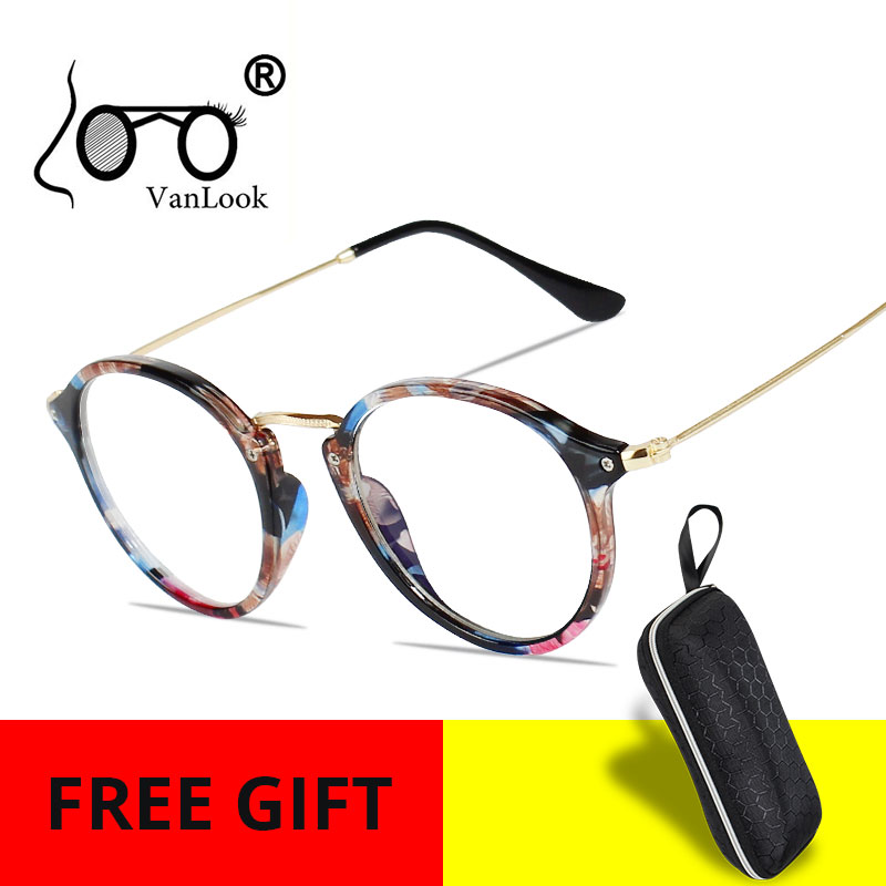 Women's Blue Light Blocking Computer Glasses For Men Anti Blue Ray Transparent Eyeglasses Gaming Round Fashion Spectacle Frames