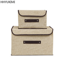 HHYUKIMI Brand Have a lid Multifunction Foldable Covered Storage Box Organizer Clothing Underwear Finishing Wardrobe Container