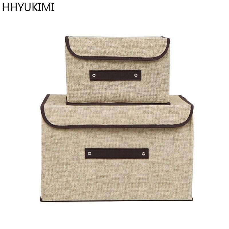 HHYUKIMI Marque Ont un couvercle Multifonction Pliable Couverts Boîte De Rangement Organisateur Vêtements Sous-Vêtements Garde-Robe De Finition Conteneur