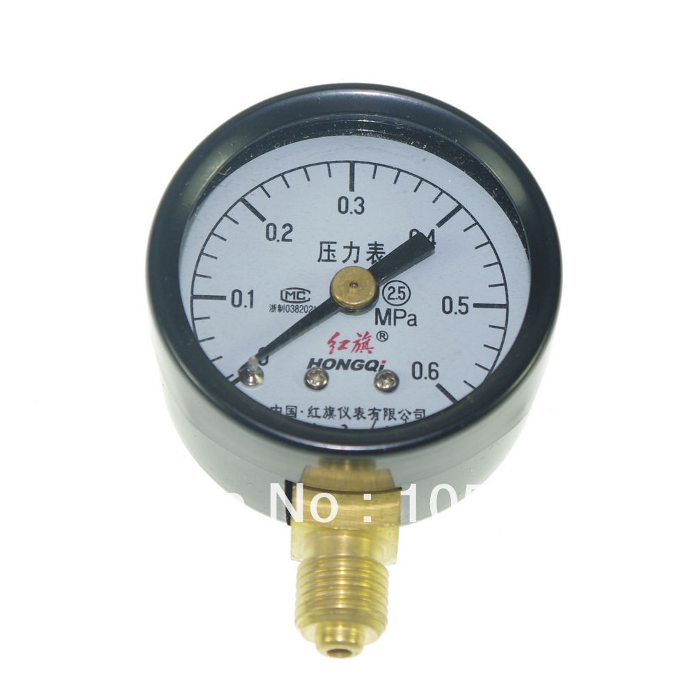 0-0.6Mpa  Water Oil Hydraulic Air Pressure Gauge Universal Gauge M10*1 40mm Dia portable lcd display manometer usb pressure gauge measure oil pressure hydraulic pressure free shipping