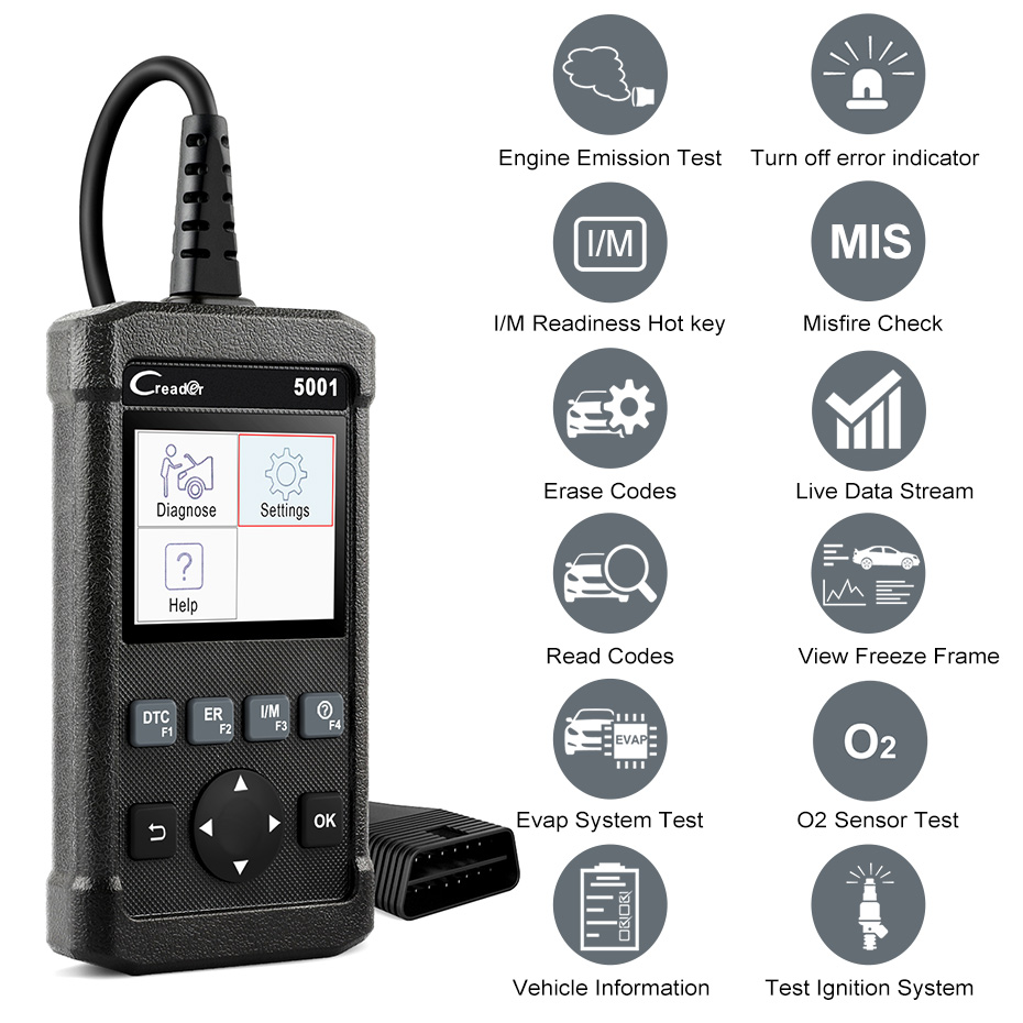 HTB1FaDDP4TpK1RjSZFKq6y2wXXal Launch X431 CR5001 OBD2 Scanner Engine Code Reader ODB2 Car Diagnostic Tool Free Update Support full OBD2 Automotive Scanner