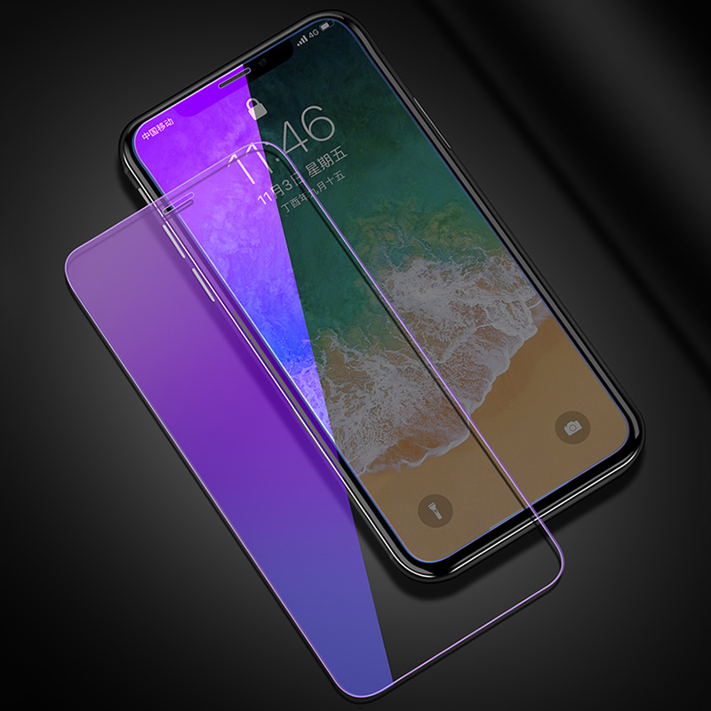 KIPX1127_1_Anti Blue Light Tempered Glass for iPhone 6 6S 7 8 Plus XS XR XS Max 9H 2.5D Protective Film