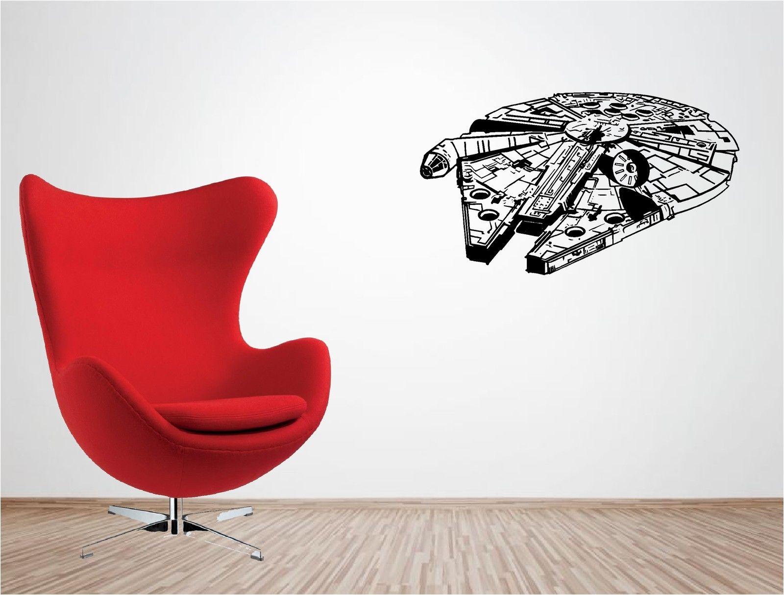 G090 Starwars Millenium Falcon Vinyl Wall Art Stickers Art