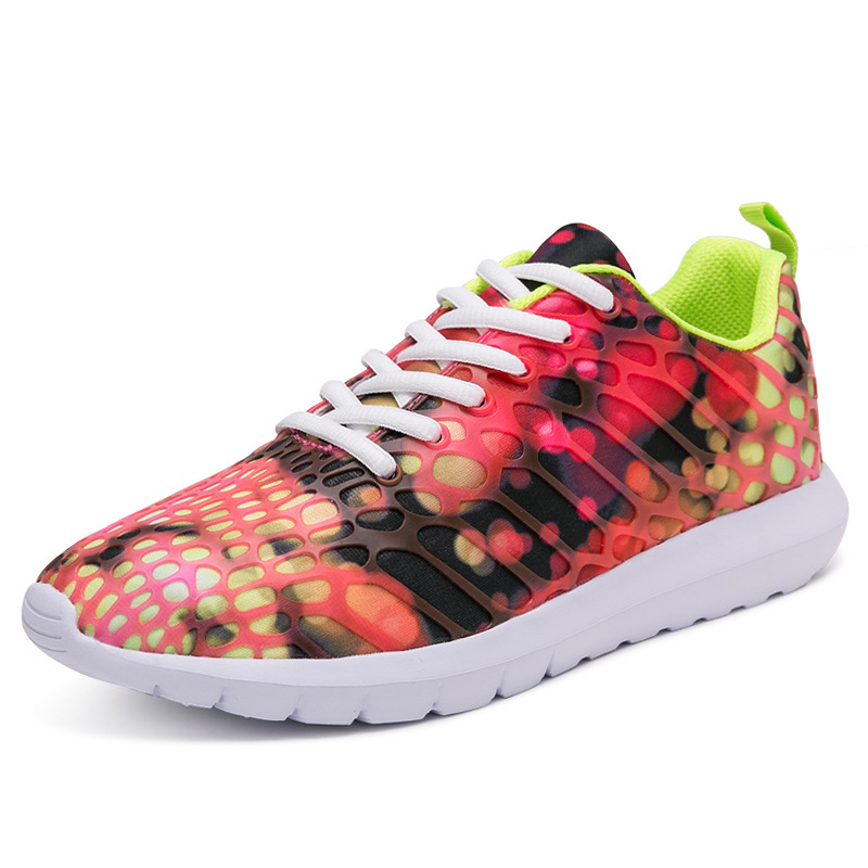 1 5 Plat Dentelle De 2 Automne Coloré Appartements Couple Unisexe Mixte Casual 6 Mode 3 Maille 4 Chaussures Printemps Pour Up Femmes Sneakers 1zxzqCTw