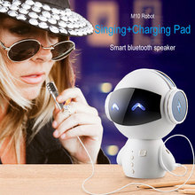 TV Karaoke Intelligent Robot Bluetooth Speaker M10 Smart-robot Cute Bass Portable Stereo wireless speaker for Power Bank Karaoke
