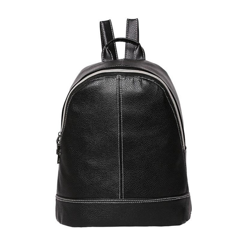 Luggage & Bags Popular Brand Backpack Girls Backpack Solid Backpacks Female Zipper Women Fashion Stone Pattern Travel Pu Satchel School Bags Latest Technology
