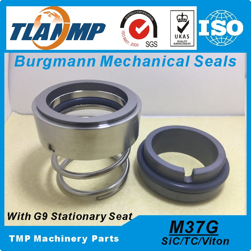 M37G-70/G9 M37G/70-G9 Burgmann Mechanical Seals (Materiaal: SiC/TC/Vit) met G9 Silicon carbide Zitting voor As Grootte 70mm Pompen