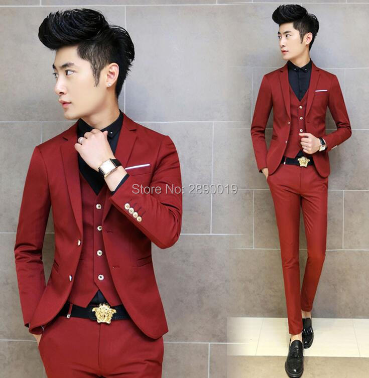 Compare Prices on Red Slim Suit- Online Shopping/Buy Low Price Red ...
