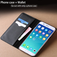 wangcangli Genuine Leather for xiaomi phone bag vintage Anti knock kickstand more coffee blue Gold Pink Flip cover phone case