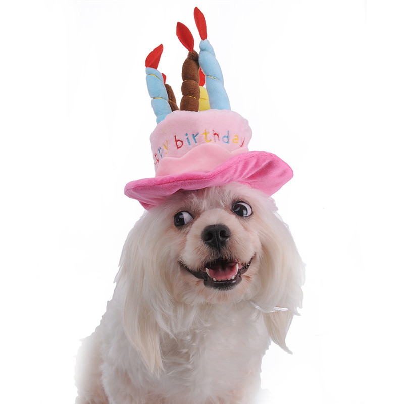 Dog Birthday Hat With Cake Candles Design Pets Puppy Cap Cute Party Costume Accessories Headwear In Toys From Home Garden On Aliexpress