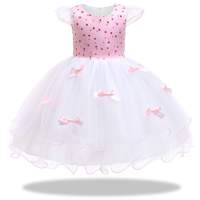 5375e2fb487d77 Baby Girl embroidery Silk Princess Dress for Wedding party Kids ...