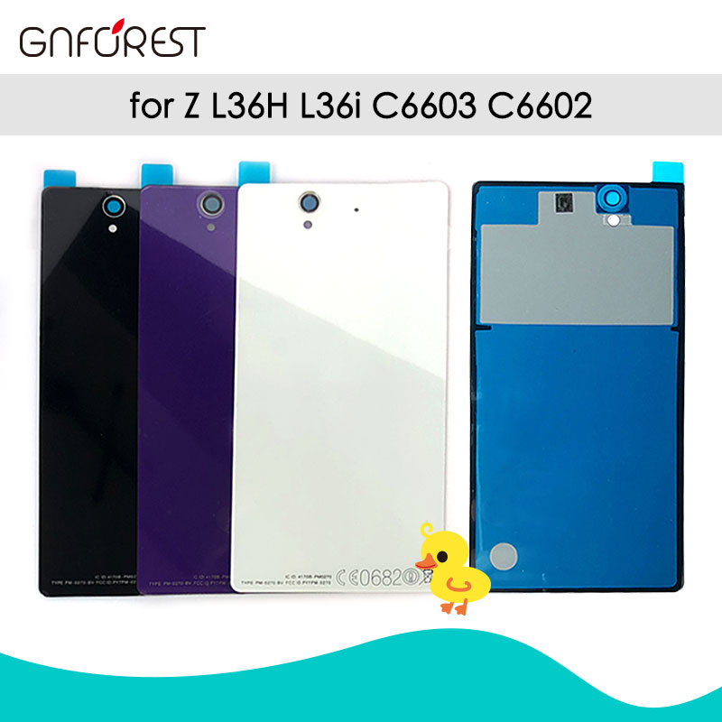 Back-Cover Housing Battery Glass C6902 C6603 Sony Xperia NF White Black Rear for Z-l36/Lt36/L36h/..