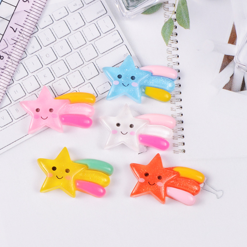 1 Piece Cute Meteor Star Model Mini Statue Figurine Crafts Ornament Miniatures Phone Stationery Box Pendant Necklace Earring DIY