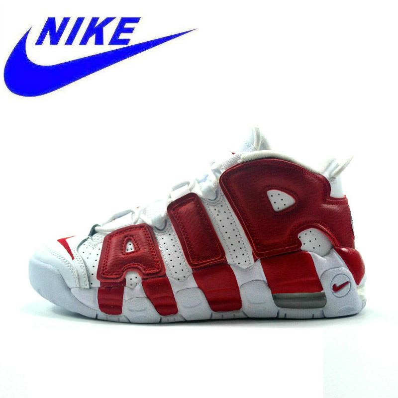 ac201aa729 US $299.0 |Authentic Nike Air More Uptempo Men's Basketball Shoes Original  New Arrival Sports Sneakers Trainers-in Basketball Shoes from Sports & ...