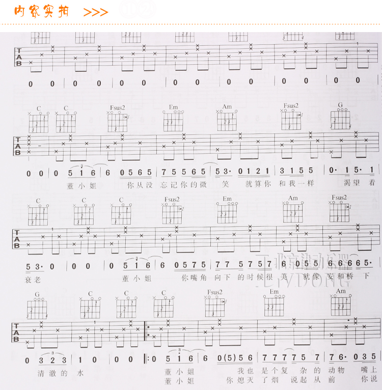171 songs Chinese Guitar Self-Study Book The Best Guitar Study Book in China easy to study books For Adults