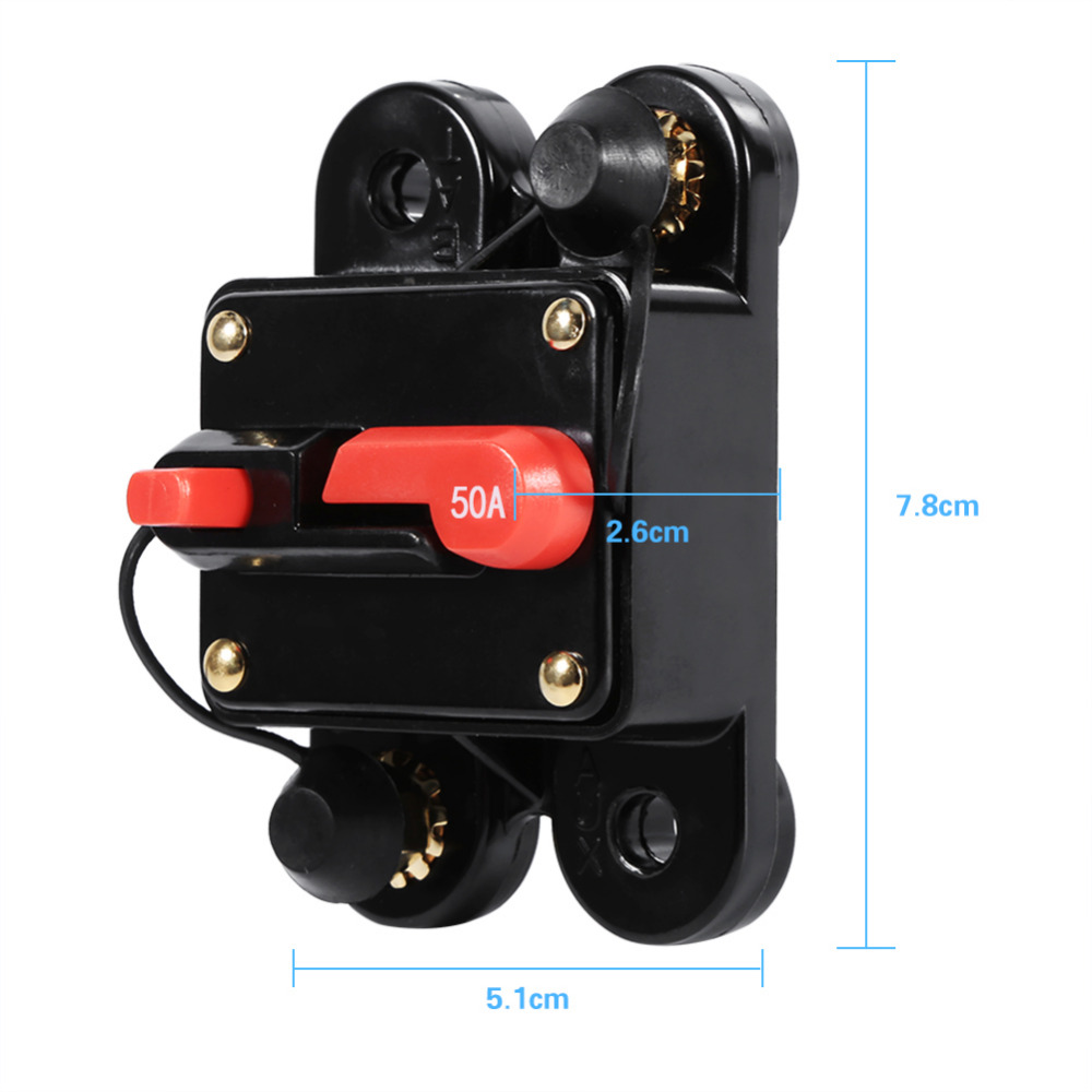 50amp 100amp Circuit Breaker Reset Fuseholder Car Boat Fuse Holder Automotive Waterproof 12 24v New In Cables Adapters Sockets From Automobiles Motorcycles On