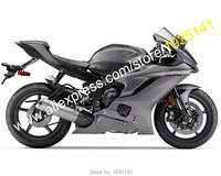 Hot Sales,Fairing Kit For Yamaha YZF R6 2017 2018 YZF R6 17 18 All Gray Bodyworks Motorcycle Fairing Parts (Injection molding)