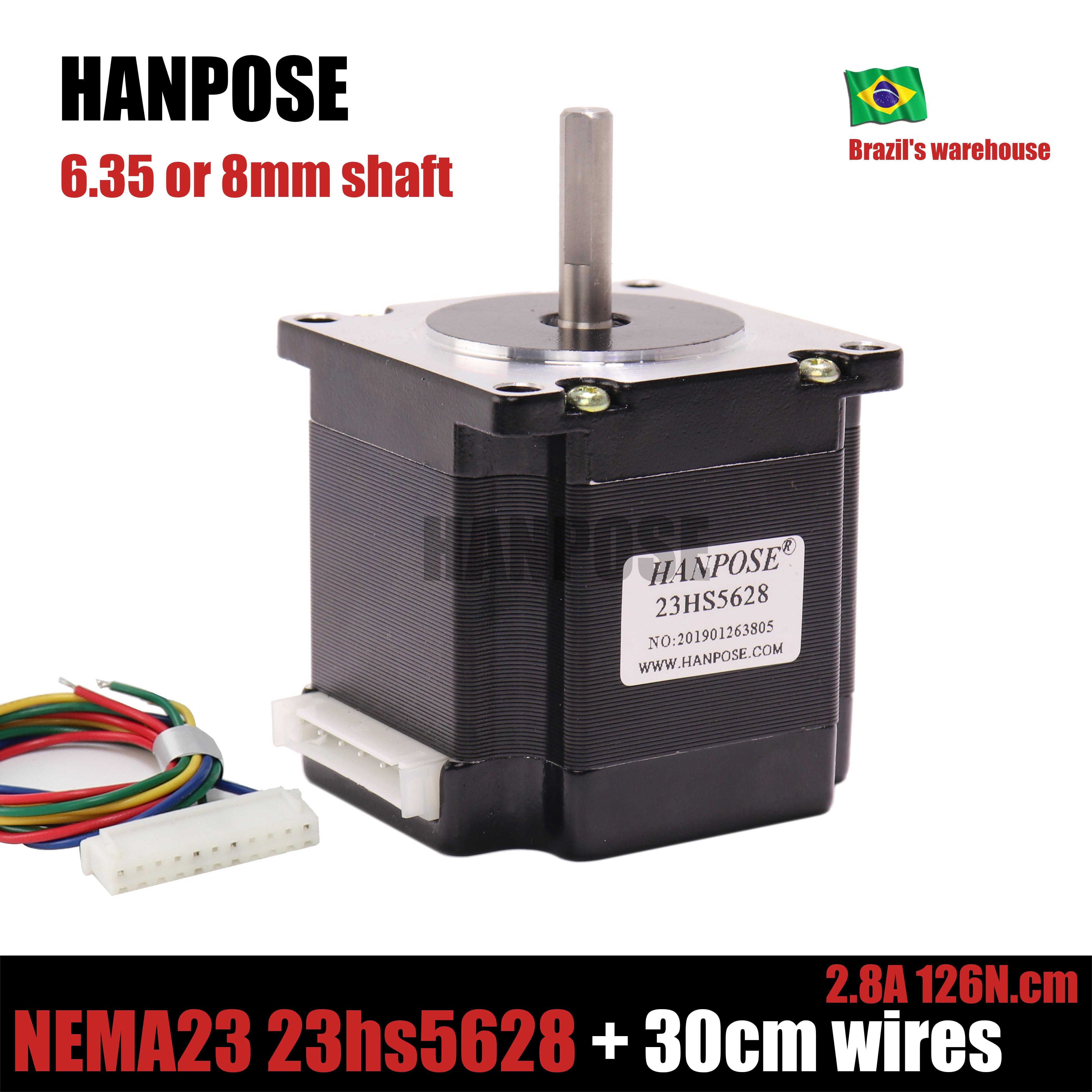"KL23H256-30-4B NEMA23 185oz//in 3A Stepper Motor ¼"" Dual shaft"