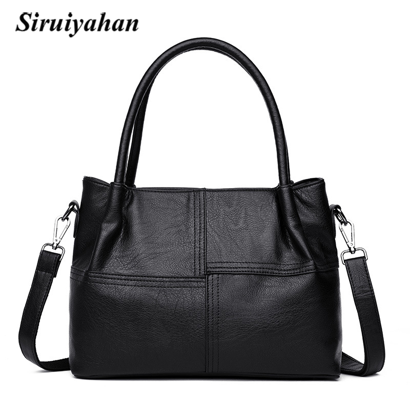 Siruiyahan Shoulder Women Bag Women Leather Handbag Solid Zipper Crossbag Luxury Handbags Women Bags Designer Bolsa Feminina siruiyahan luxury handbags women bags designer genuine leather bag female shoulder bags women handbag bolsa feminina