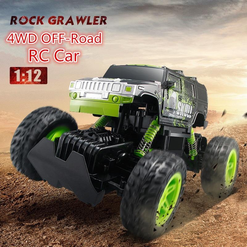 Фотография Children RC toy D810/D811 2.4G 1:12 sacale 4WD electric driving off road radio control kart rock crawler car toy truck vehile
