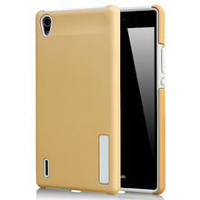 Для huawei p7 роскошные пк + силикон ударопрочный силиконовый чехол case для huawei ascend p7 случаи мобильного телефона сумки coque coque принципиально