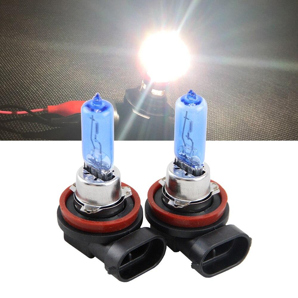 Пара фар H8 H9 H11, 12 В, 65 Вт, 6500 К, супербелые автомобильные галогенные лампы, передние противотуманные фары