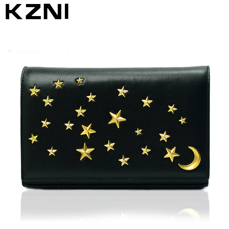 KZNI Women Genuine Leather Messenger Crossbody Shoulder Clutch Bags Female Purses and Handbags Bolsos Mujer 1396 kzni genuine leather shoulder bags female purses and handbags fashion handbags 2017 crossbody bags for women sac a main 9008