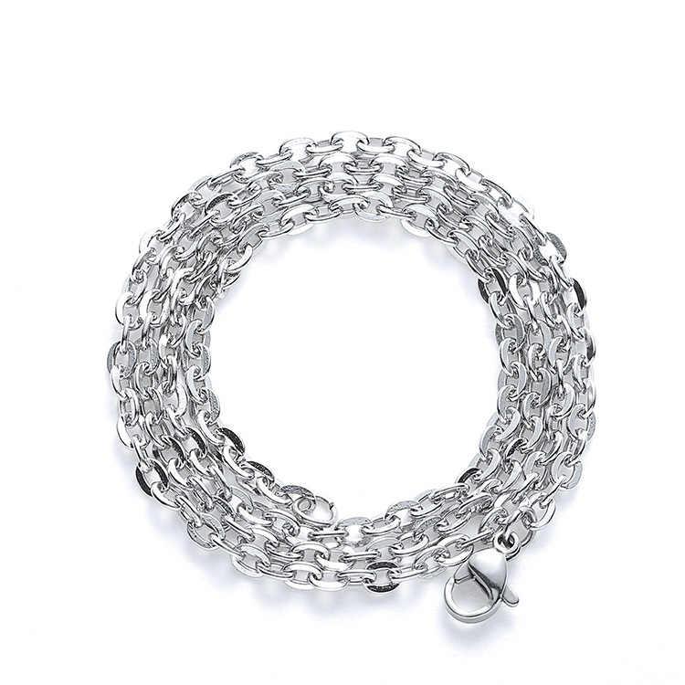 Không bao giờ Phai 316 thép Không gỉ ánh sáng phẳng chữ thập chain Men Necklace Trang Sức Người Đàn Ông Quyến Rũ Mặt Dây Chuyền Vòng Cổ Cho Phụ Kiện Nam