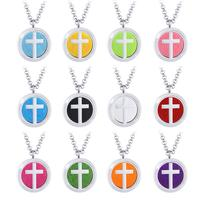 316L Edelstahl Aromatherapie Diffusor Halskette Parfüm Medaillon Mode Kreuz Anhänger Halsketten Kreative Geschenke geben 12 dichtung