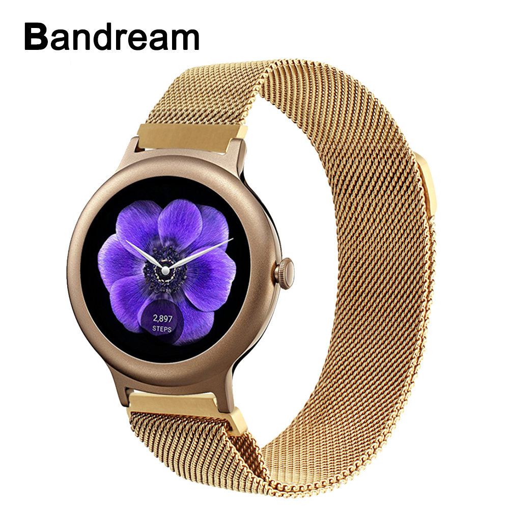 18mm Milanese Stainless Steel Watchband for LG Watch Style Withings Activite/Sapphire/Pop/Steel HR 36mm Magnet Band Wrist Strap стоимость