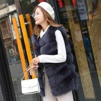 Phalinovic Faux Fur Vest Women Winter Coat Fake Fur Long Sleeveless Jacket Roupas Femininas Plus Size White Black Pink Grey