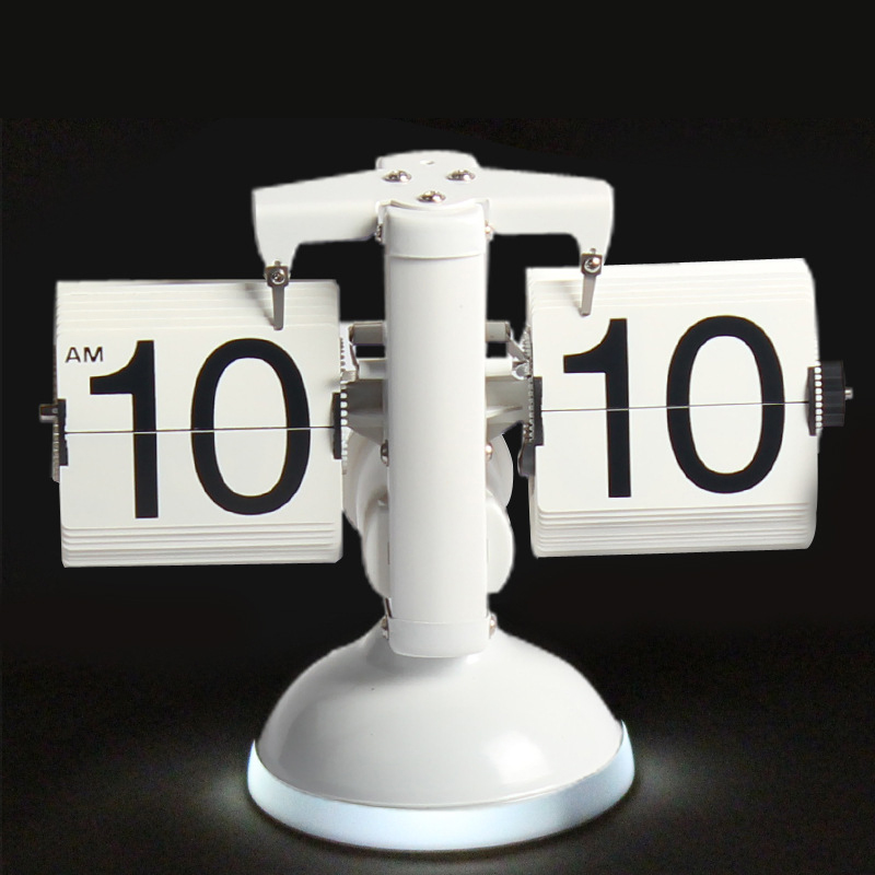 Galda pulkstenis Radošās svari Flip pulksteņa skaņas vadība LED - Mājas dekors - Foto 4