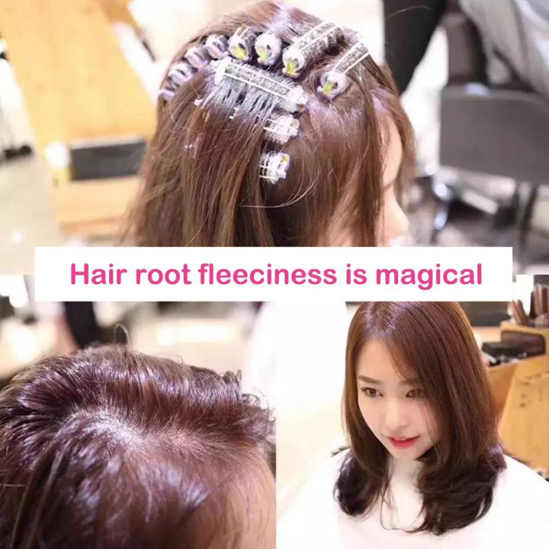 Hairdressing Home Use DIY Magic Large Self-Adhesive Hair Rollers Styling Roller Roll Curler Beauty Tool With Rubber Band