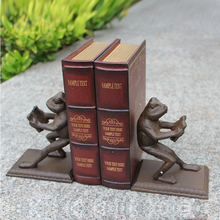 Bookends - The Thinker Bookends - Bronze Metal on Wood Stand Bookends - Book End rin sparrow bookends