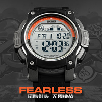 Hızlı gemi SKMEI LED dijital askeri erkek spor saatler marka açık dijital spor izle saat geri sayım erkekler kol saati