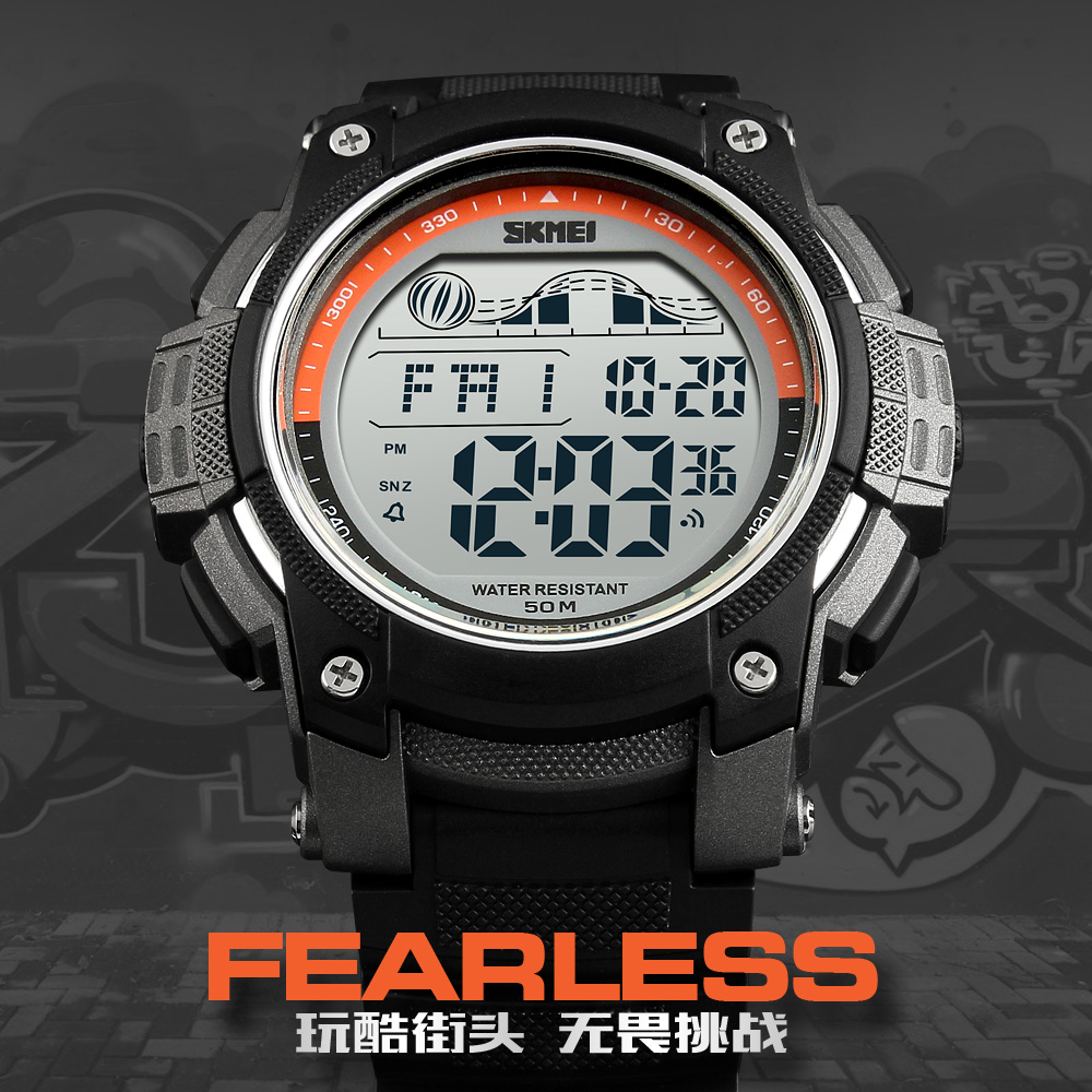 SKMEI LED Digital Military Mens Sports Watches Brand Outdoor Digital Sport Watch Hours Countdown Men Wrist Watch