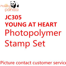 JC305 YOUNG AT HEART Metal Cutting Dies and stamps DIY Scrapbooking Card Stencil Paper Handmade Album Decoration Embossing(China)