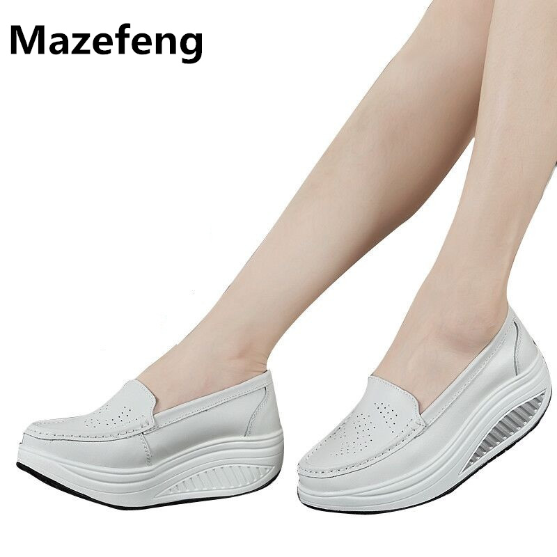 Spring Leather Shoes Woman Comfort Chaussure Femme Low Heels Nurse Women Shoes A013 Zapatos Mujer Flat Loafers Wholesale 2017 spring genuine leather sheepskin shoes womens black white comfortable woman flat boat shoes buckle strap zapatos mujer 002k