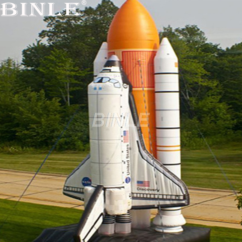 купить Customized Astronomical giant inflatable rocket space plane replica balloon for advertising or event decoration недорого