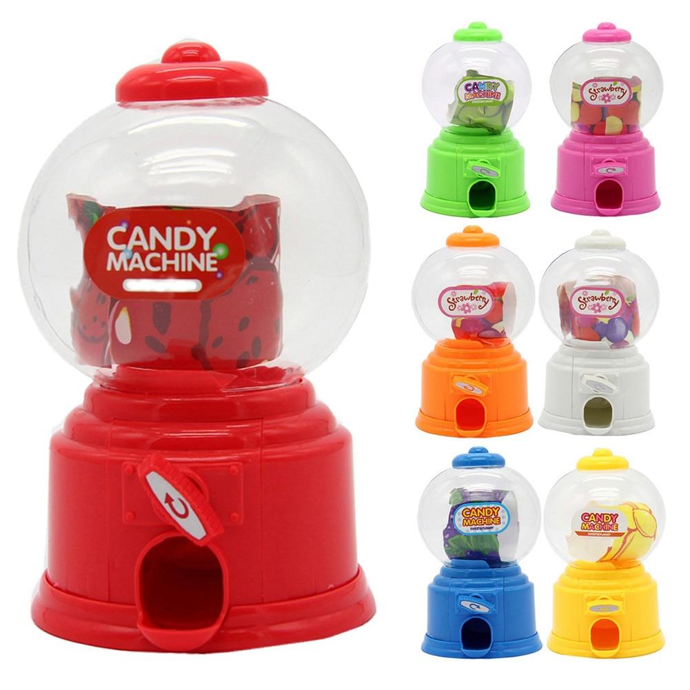 Cute Sweet Mini Candy Machine Bubble Gumball Dispenser Coin Bank Kids Toys Children Gift E2S