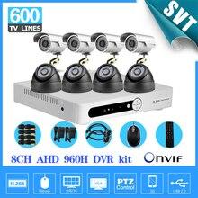 CCTV System 8CH DVR 8PCS Outdoor indoor 600tvl CCTV color Cameras System DVR Kit 8 channel Security Camera surveillance System