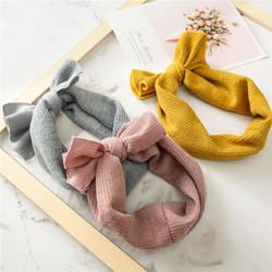 Теплые Headwrap зима Рождество для девочек Теплые вязаные шапки с ушками повязка на голову вязаный бант Hairband интимные аксессуары