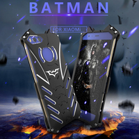 R Just Batman Luxury Metal Armor Case For Xiaomi Mi 5 MAX 5S Plus Note 2